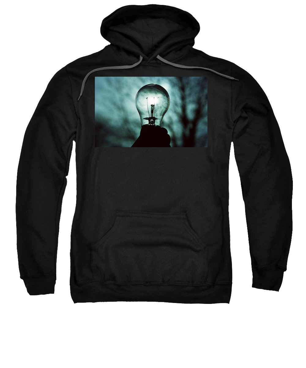 Light Bulb Sweatshirt featuring the digital art Light Bulb by Bert Mailer
