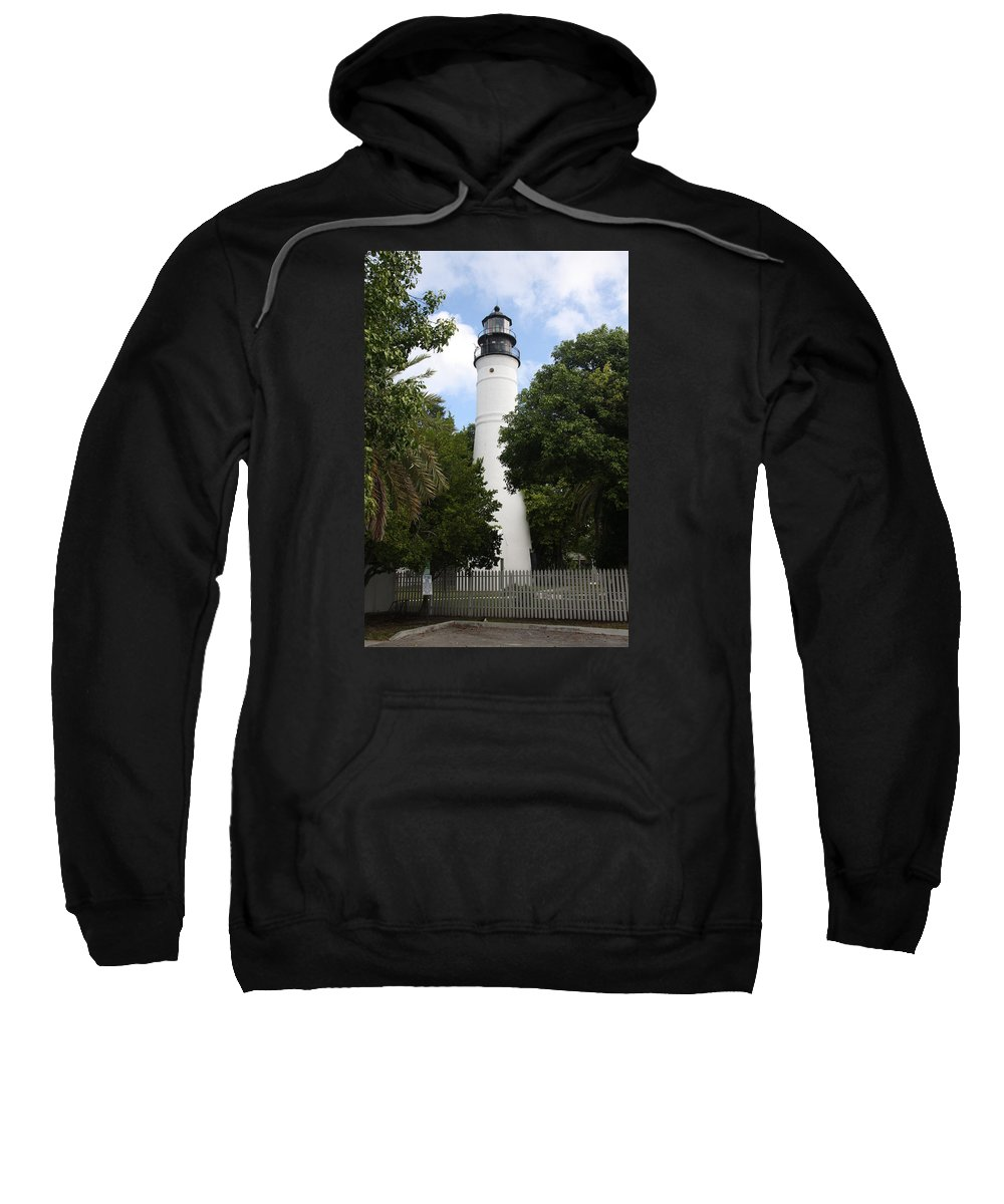 Ligthouse Sweatshirt featuring the photograph Lighthouse - Key West by Christiane Schulze Art And Photography