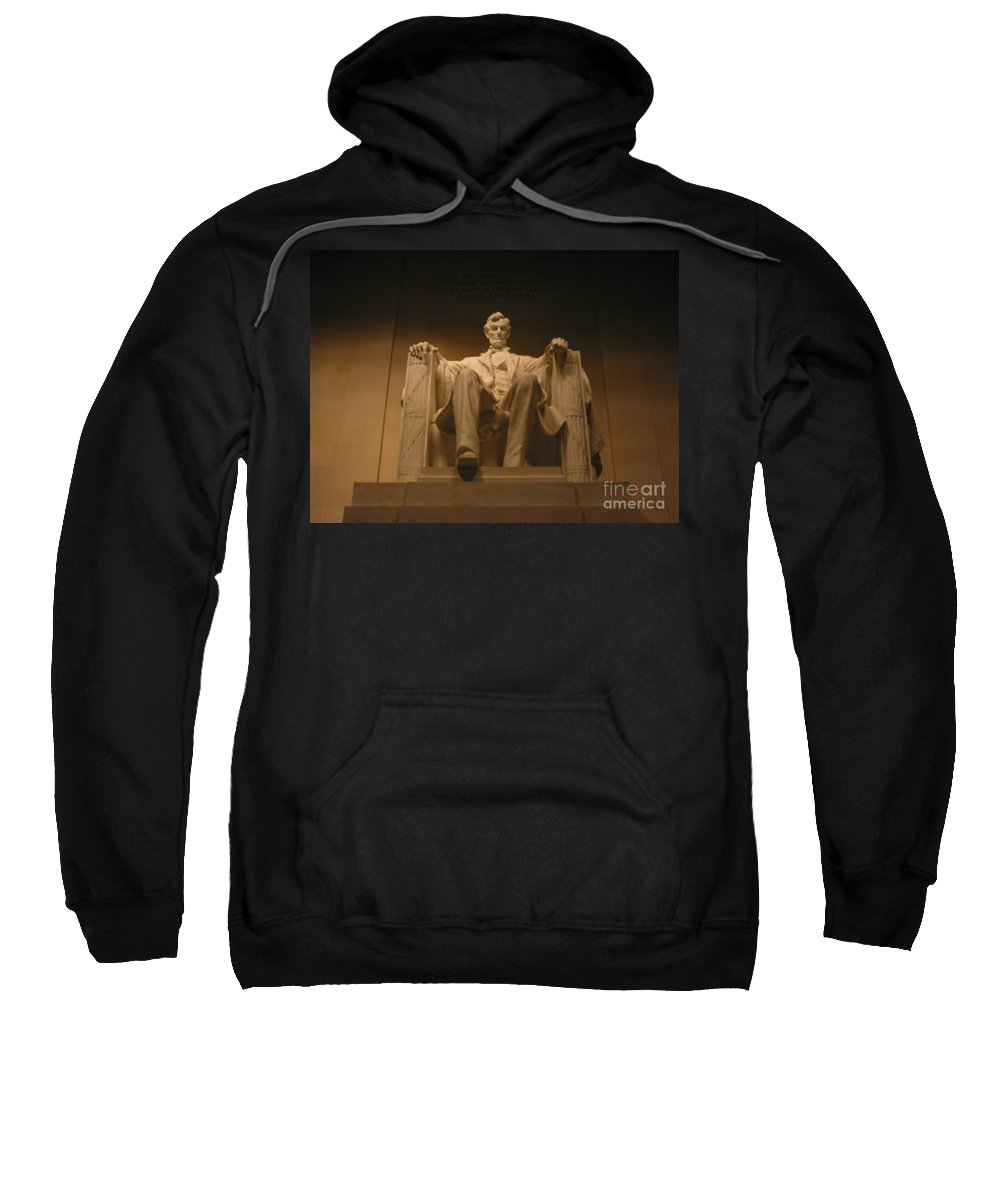 Abraham Lincoln Sweatshirt featuring the painting Lincoln Memorial by Brian McDunn