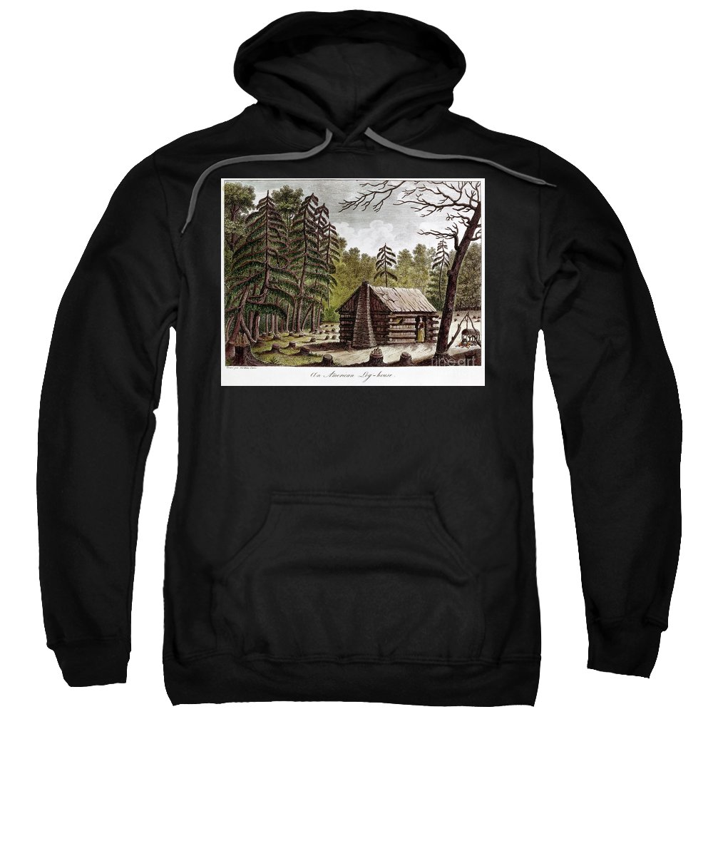 1826 Sweatshirt featuring the photograph Log Cabin, 1826 by Granger