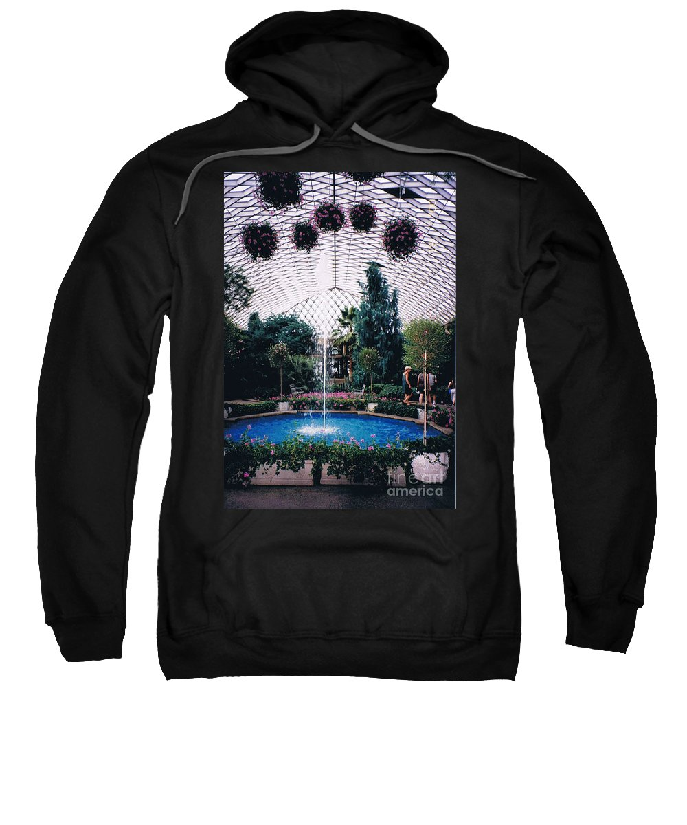 Longview Gardens Sweatshirt featuring the photograph Longview Gardens by Tommy Anderson