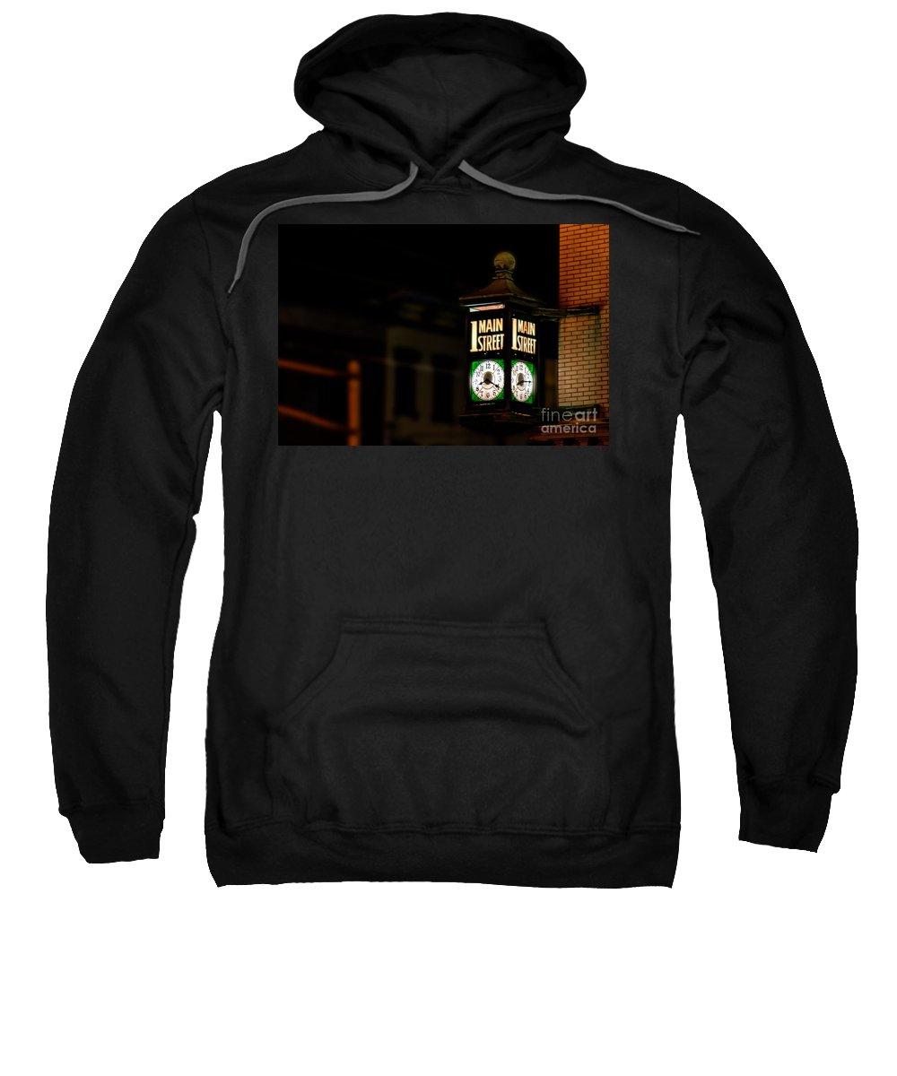 Main Sweatshirt featuring the photograph 1 Main Street by Jeffrey Miklush