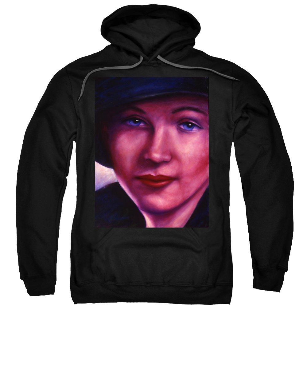 Woman Sweatshirt featuring the painting Maria by Shannon Grissom