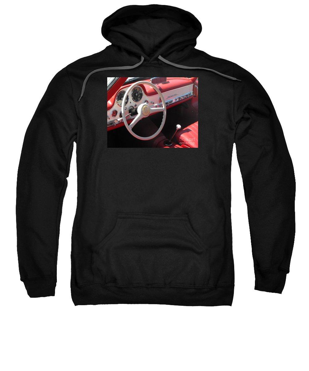 Mercedes Sweatshirt featuring the photograph Mercedes 300sl Dashboard by Neil Zimmerman