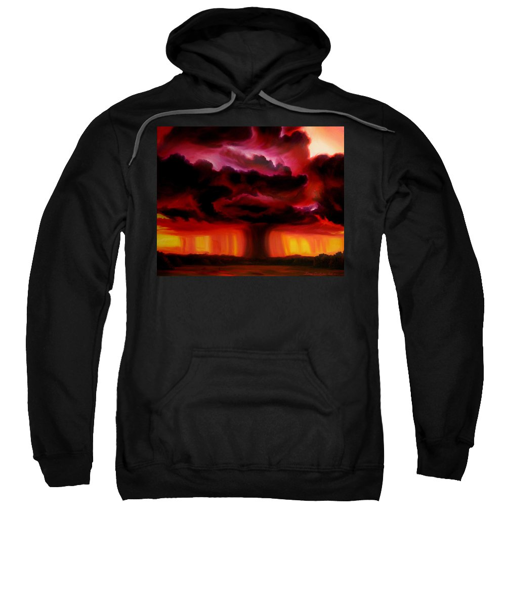 Skyscape Sweatshirt featuring the painting Microburst by James Christopher Hill