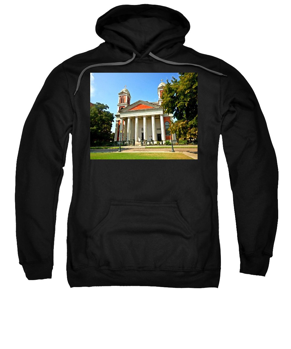 Mobile Sweatshirt featuring the digital art Mobile Cathedral by Michael Thomas