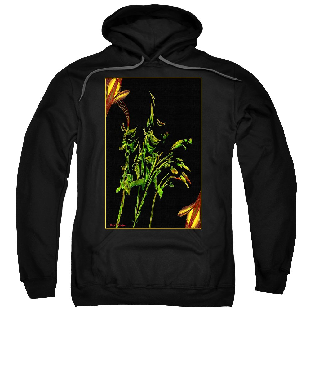 Asian Sweatshirt featuring the painting Motif Japonica No. 5 by RC DeWinter