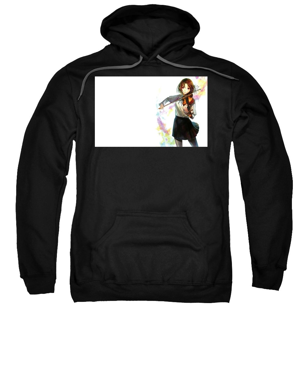 Music Sweatshirt featuring the digital art Music by Bert Mailer