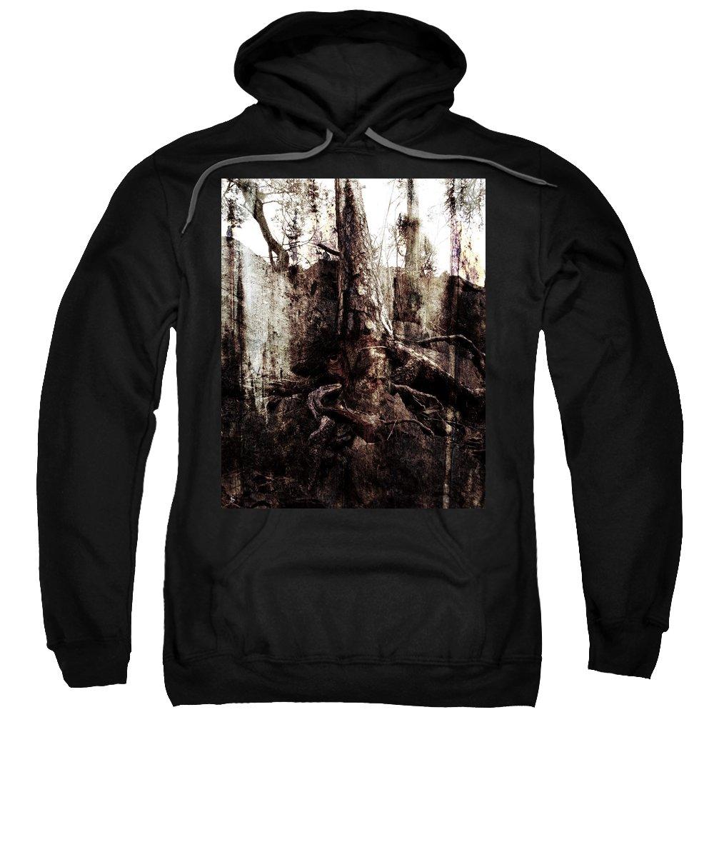 Tree Sweatshirt featuring the digital art Old One by Ken Walker