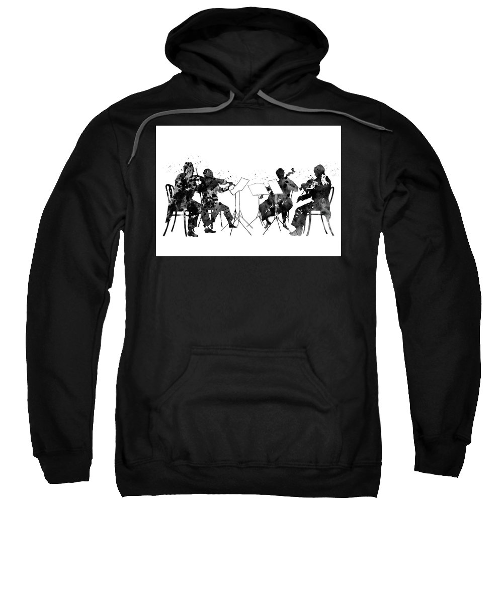 Orchestra Sweatshirt featuring the digital art Orchestra by Erzebet S