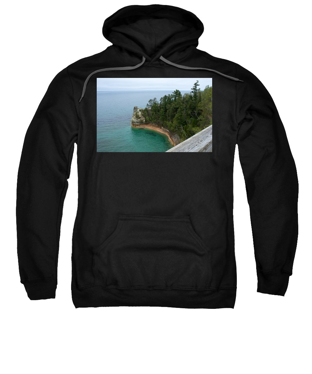 Miner's Castle Sweatshirt featuring the photograph Over The Edge by Linda Kerkau