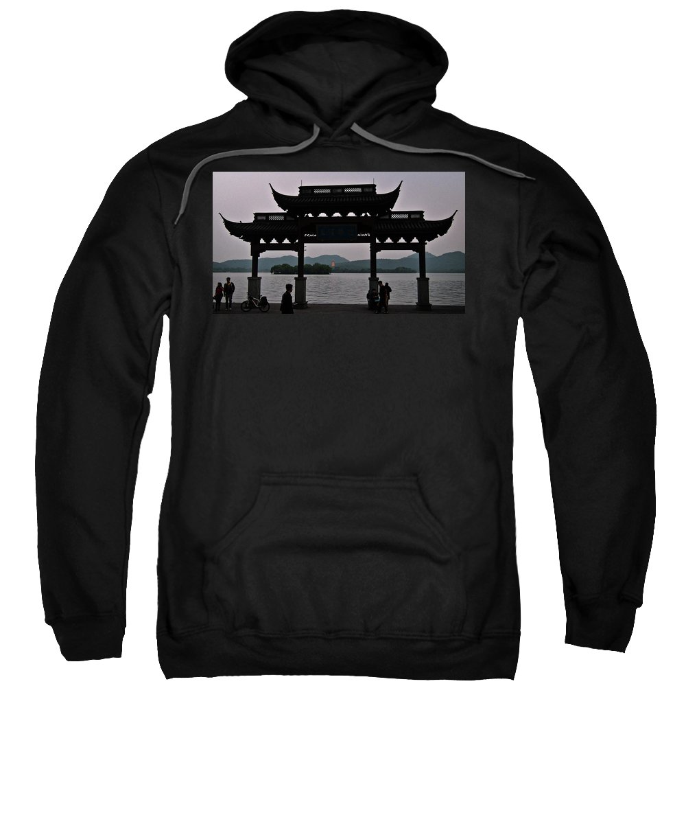 Pagoda Sweatshirt featuring the photograph Pagoda At Dusk by George Taylor
