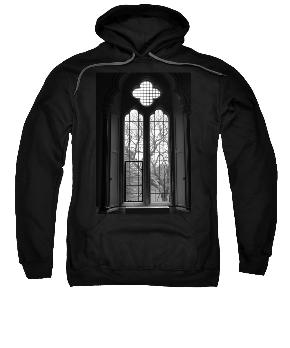 Bishop Sweatshirt featuring the photograph Palace Window by Lauri Novak