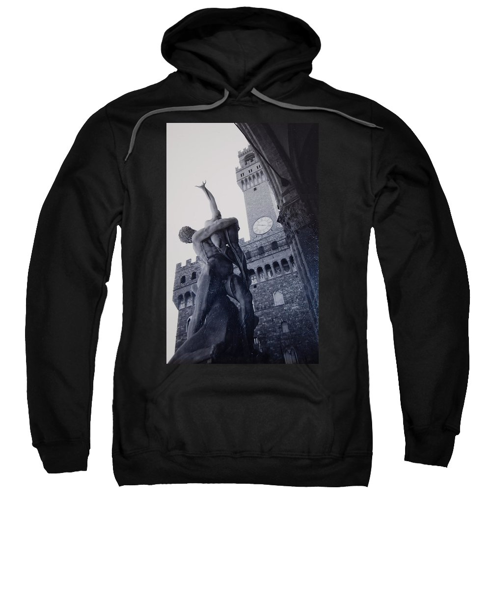 Florence Sweatshirt featuring the photograph Palazzo Vecchio by Kurt Hausmann