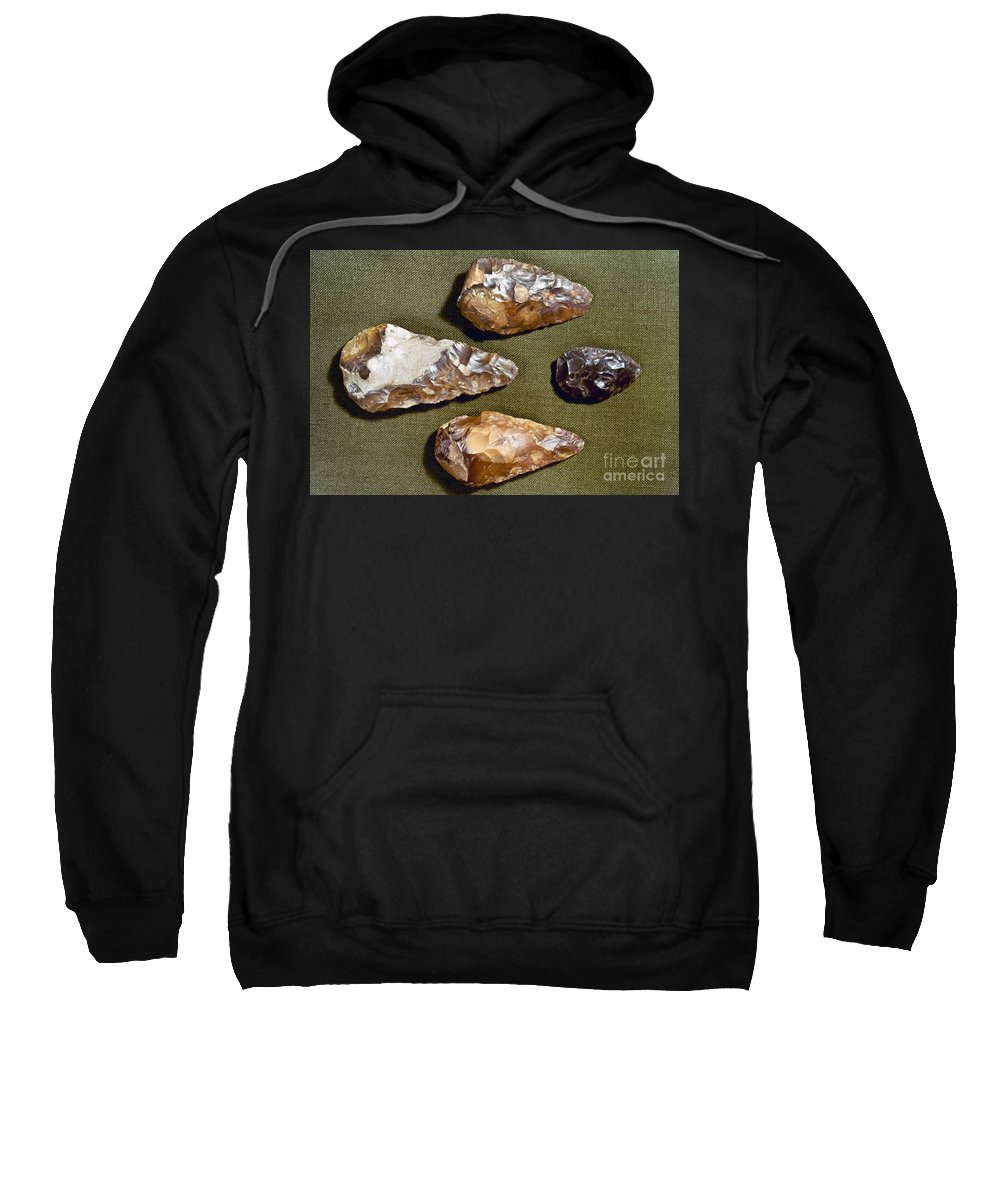 200000 Sweatshirt featuring the photograph Paleolithic Tools by Granger