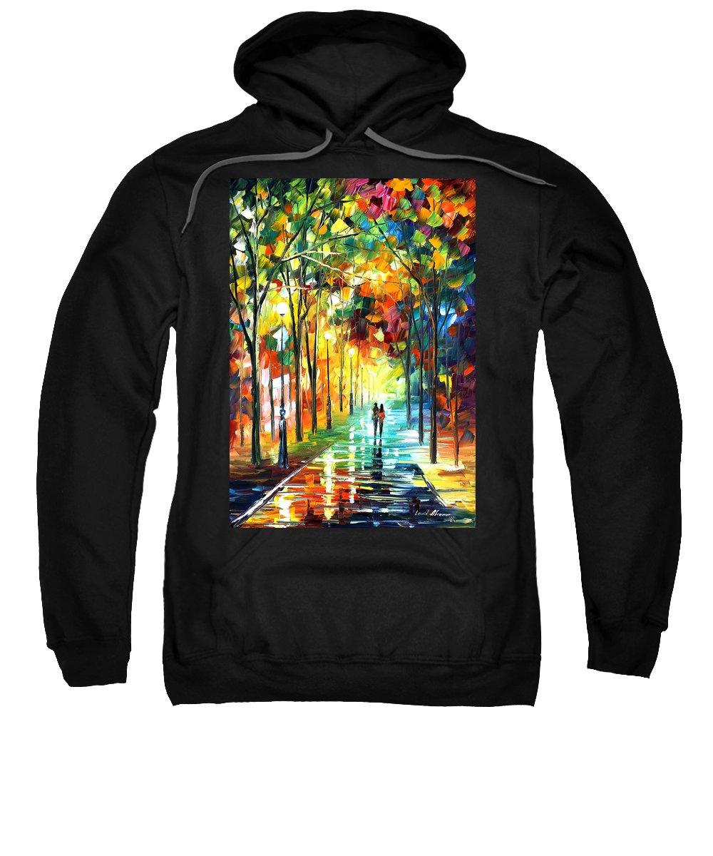 Landscape Sweatshirt featuring the painting Park by Leonid Afremov