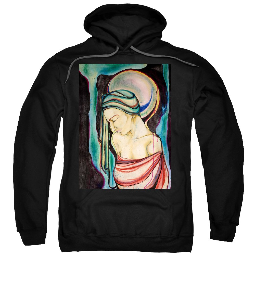 Peace Sweatshirt featuring the painting Peace Beneath The City by Sheridan Furrer