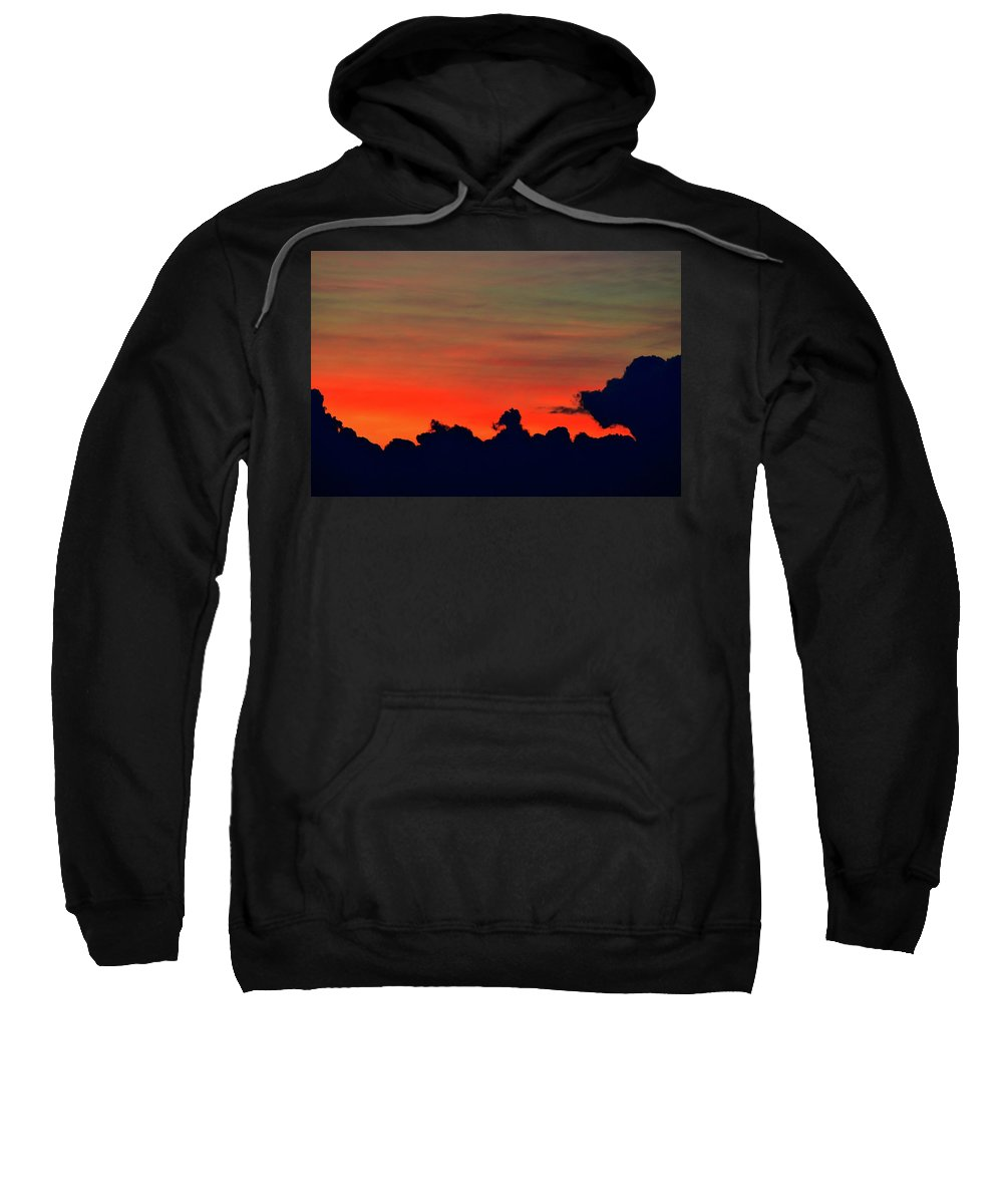Abstract Sweatshirt featuring the photograph Post Sunset Sky by Lyle Crump