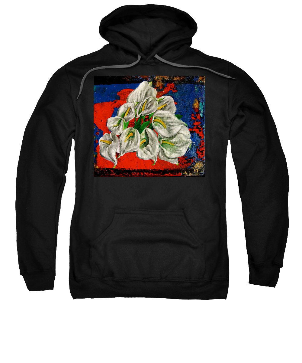 Orchid Painting Sweatshirt featuring the painting Preacher In The Pulpit by Laura Pierre-Louis