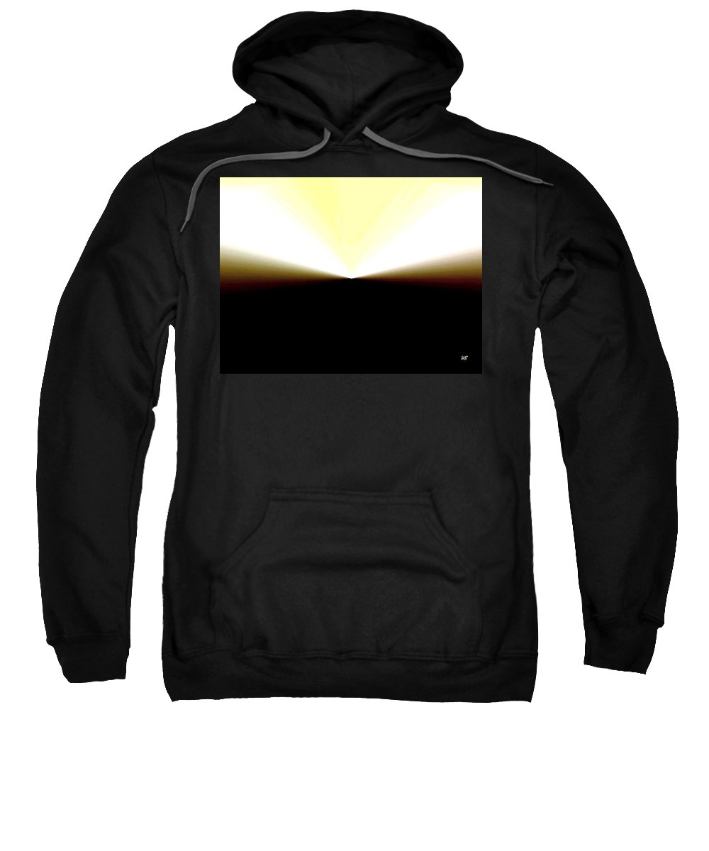 Abstract Sweatshirt featuring the digital art Radiation by Will Borden