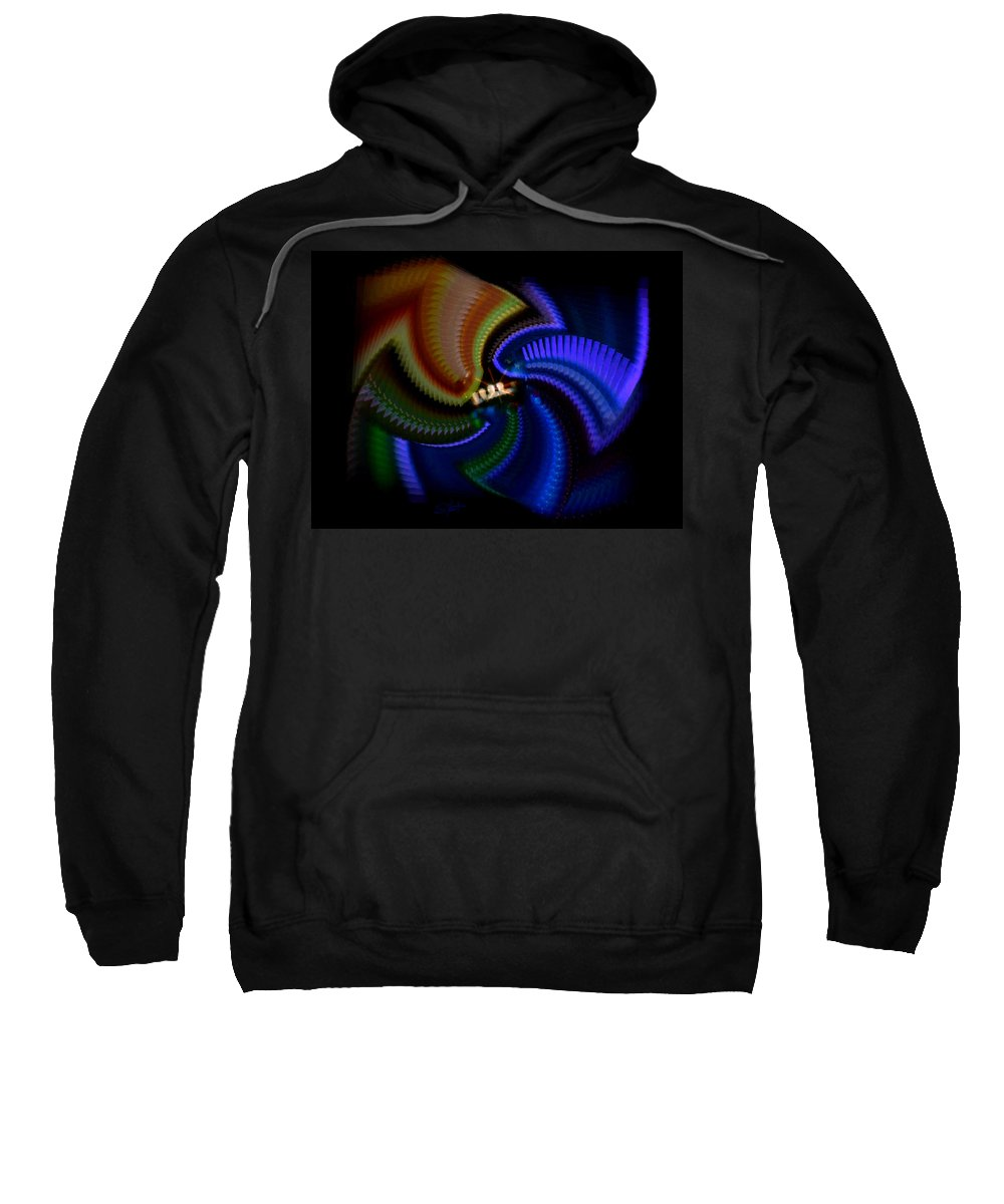 Chaos Sweatshirt featuring the painting Rainbow by Charles Stuart