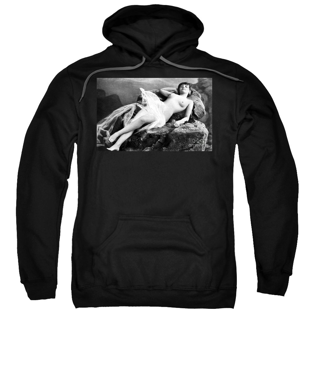 Sweatshirt featuring the painting Reclining Nude, C1895 by Granger