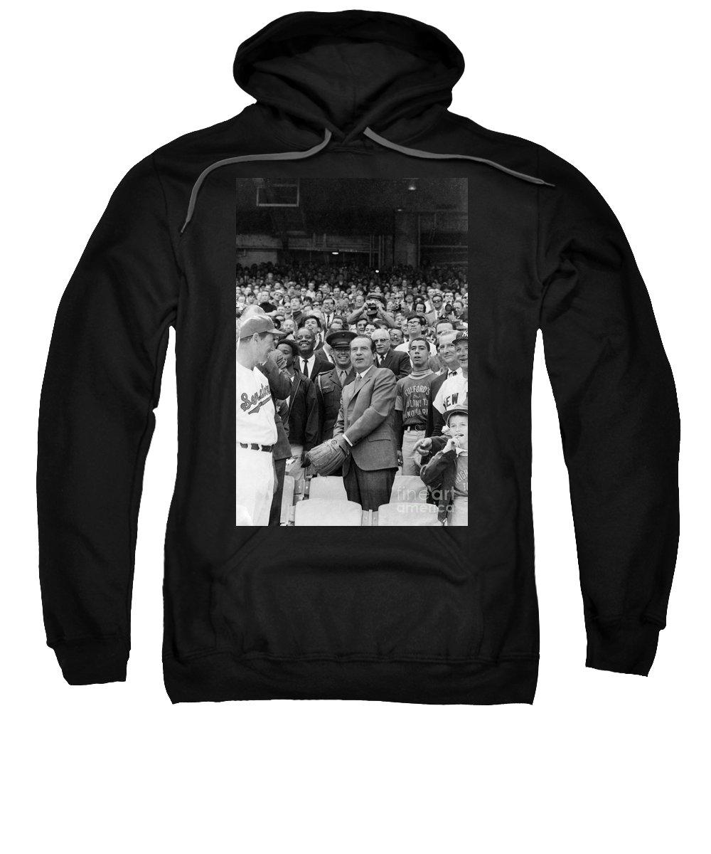 1969 Sweatshirt featuring the photograph Richard Nixon (1913-1994) by Granger