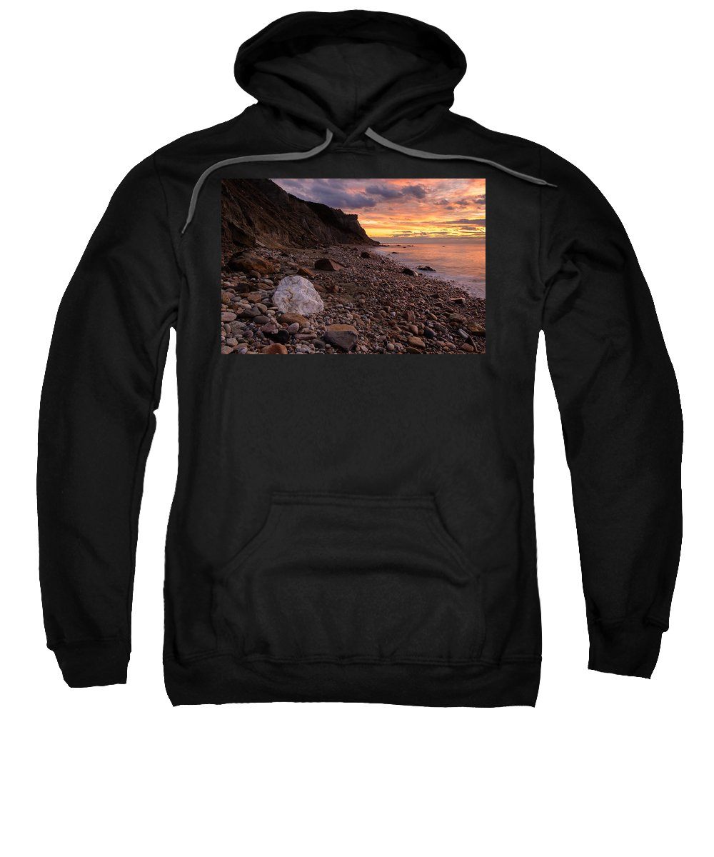 Block Island Sweatshirt featuring the photograph Rock Equality by Michael Blanchette