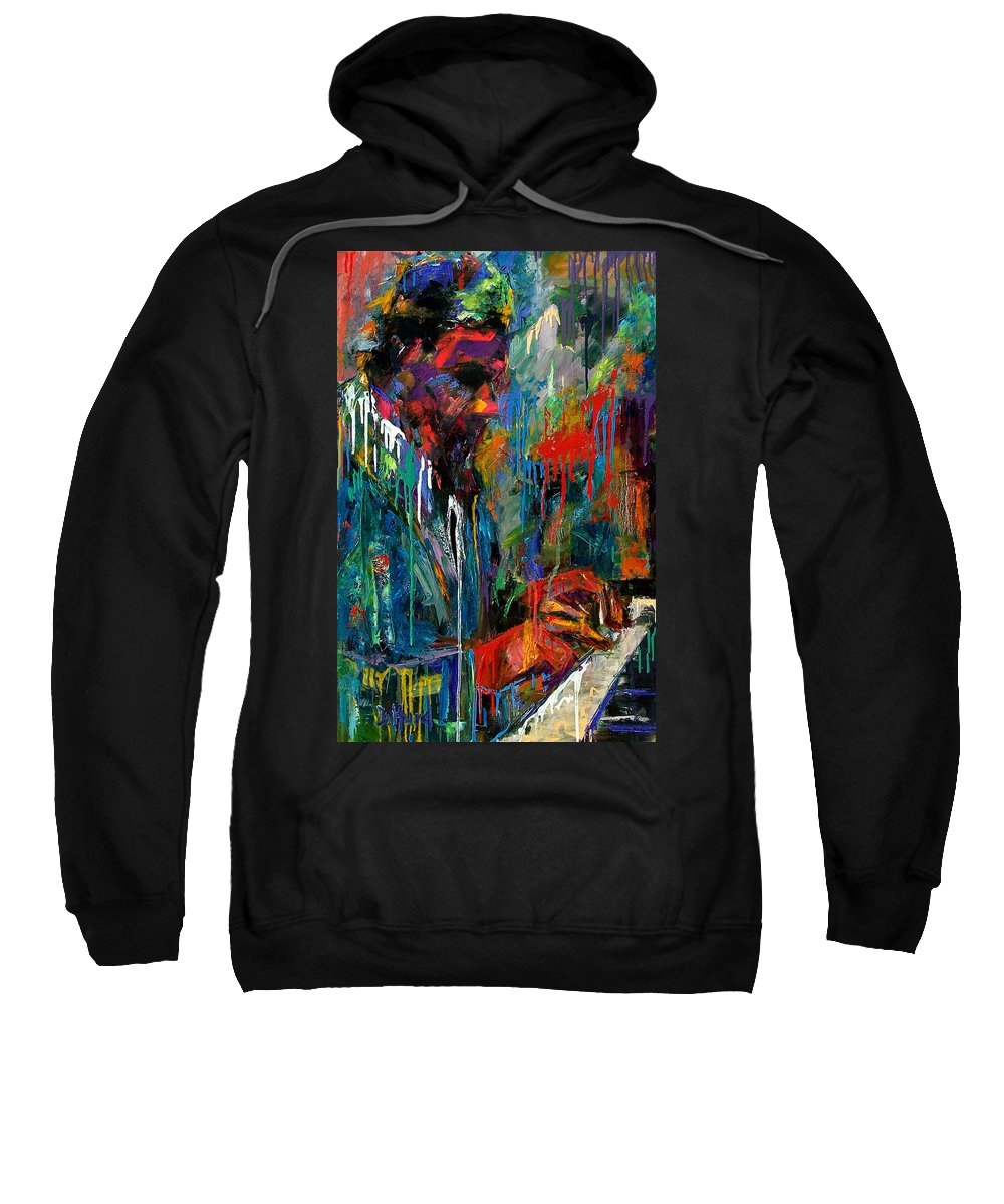 Painting Sweatshirt featuring the painting Round Midnight by Debra Hurd