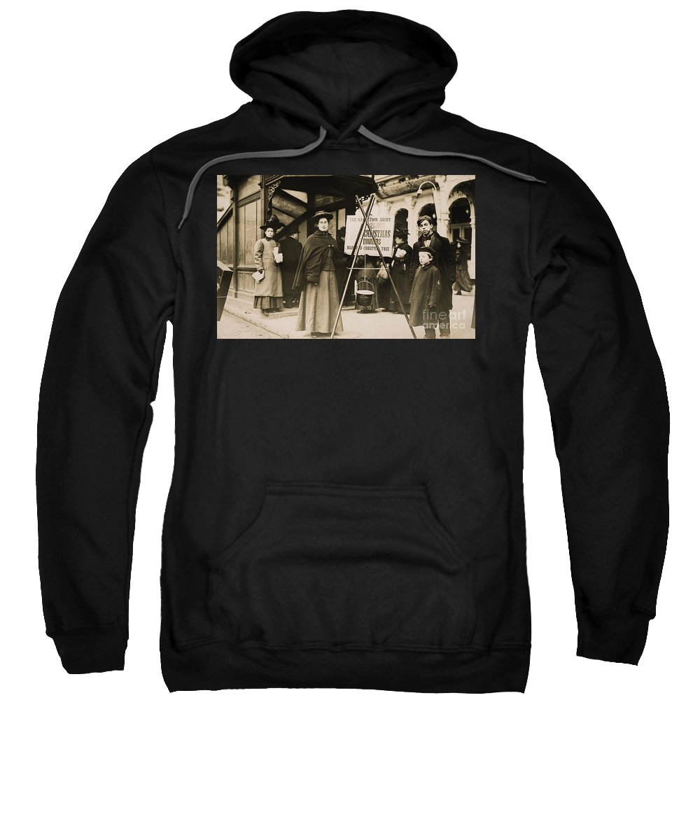 1908 Sweatshirt featuring the photograph Salvation Army, 1908 by Granger