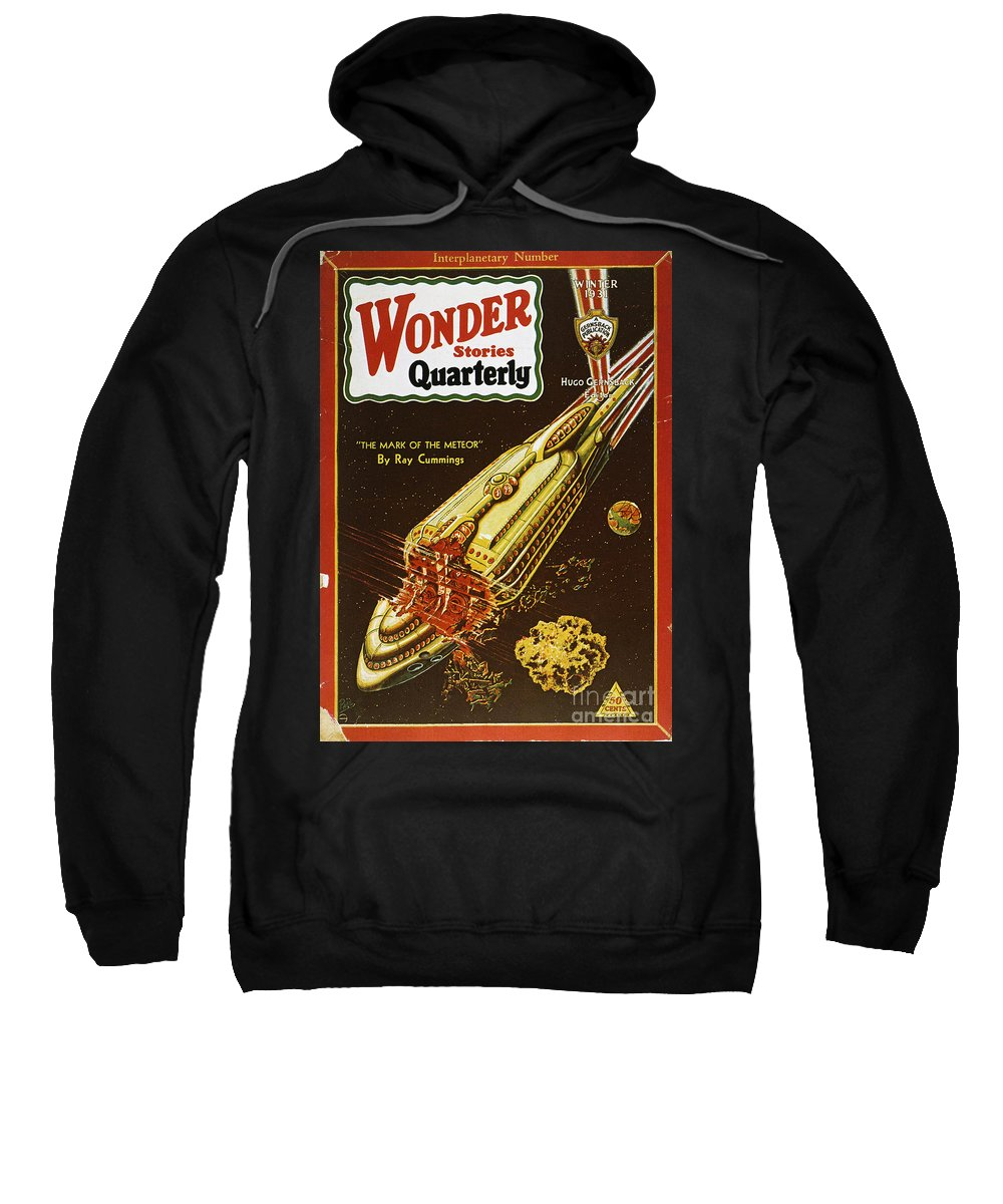 1931 Sweatshirt featuring the photograph Sci-fi Magazine Cover, 1931 by Granger