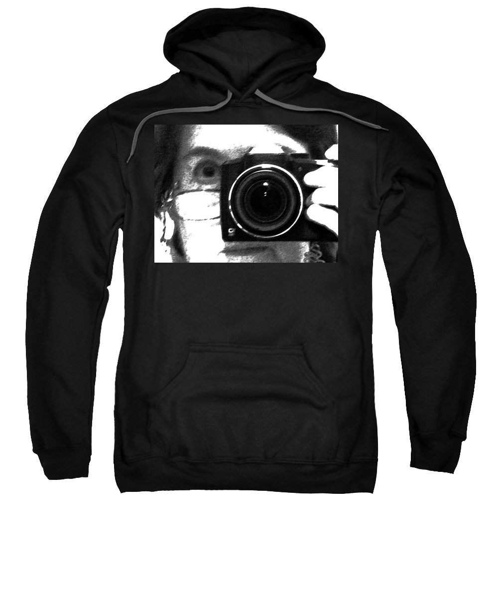 Abstract Sweatshirt featuring the photograph Self Portrait by Lenore Senior