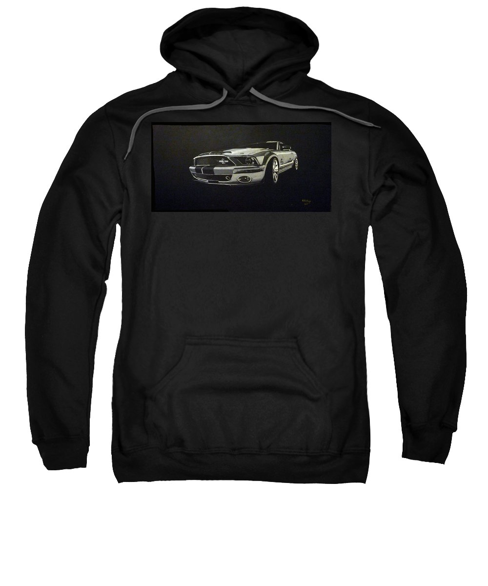 Shelby Sweatshirt featuring the painting Shelby Mustang Front by Richard Le Page