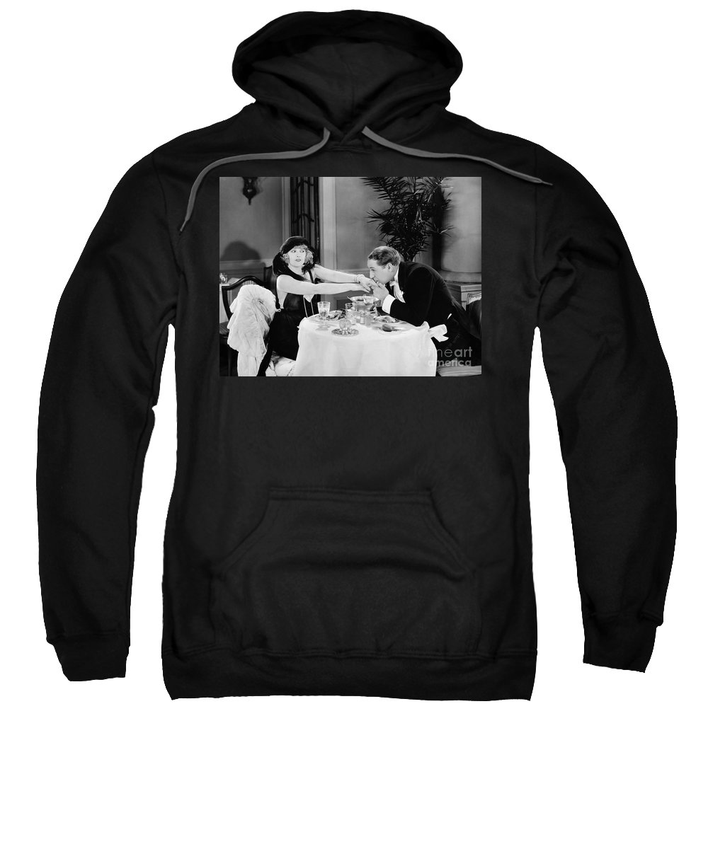 -kissing Hand- Sweatshirt featuring the photograph Silent Still: Hand Kissing by Granger