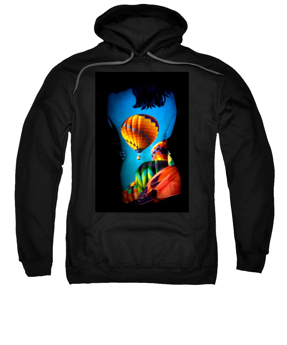 Hot Air Balloon Sweatshirt featuring the photograph Soarin Beauty by Greg Fortier