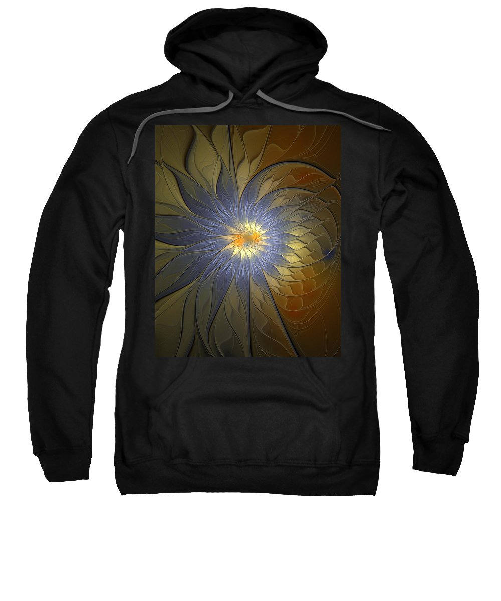Digital Art Sweatshirt featuring the digital art Something Blue by Amanda Moore