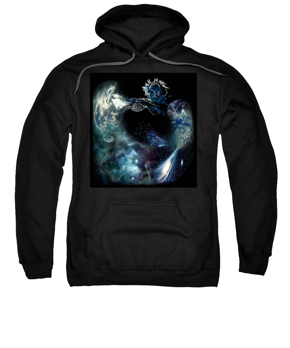 Song Sweatshirt featuring the digital art Song Of The Universe by Tony Macelli