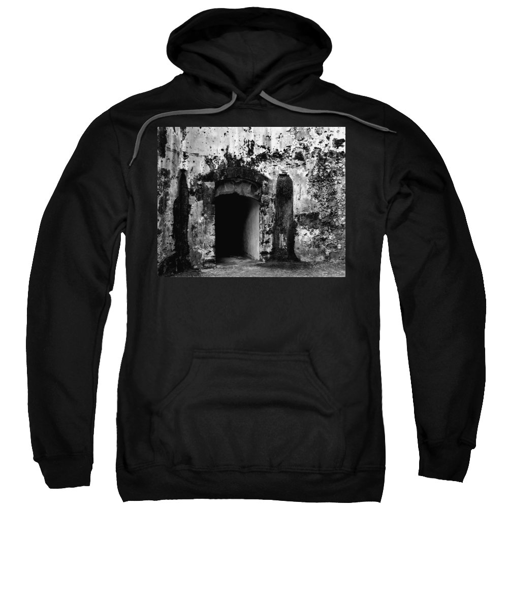 Fort Sweatshirt featuring the photograph Spanish Fort Doorway by Perry Webster