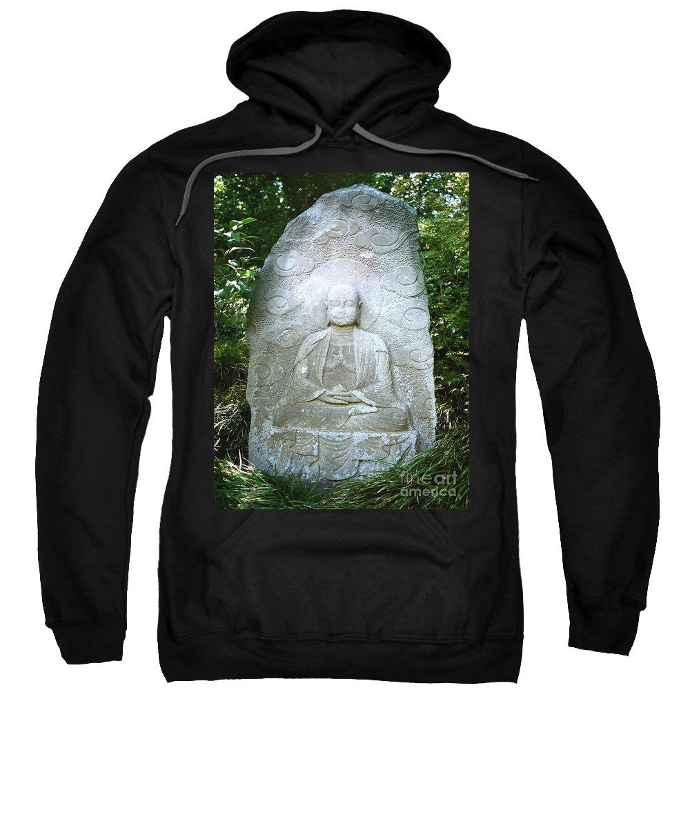 Stone Sweatshirt featuring the photograph Stone Buddha by Dean Triolo