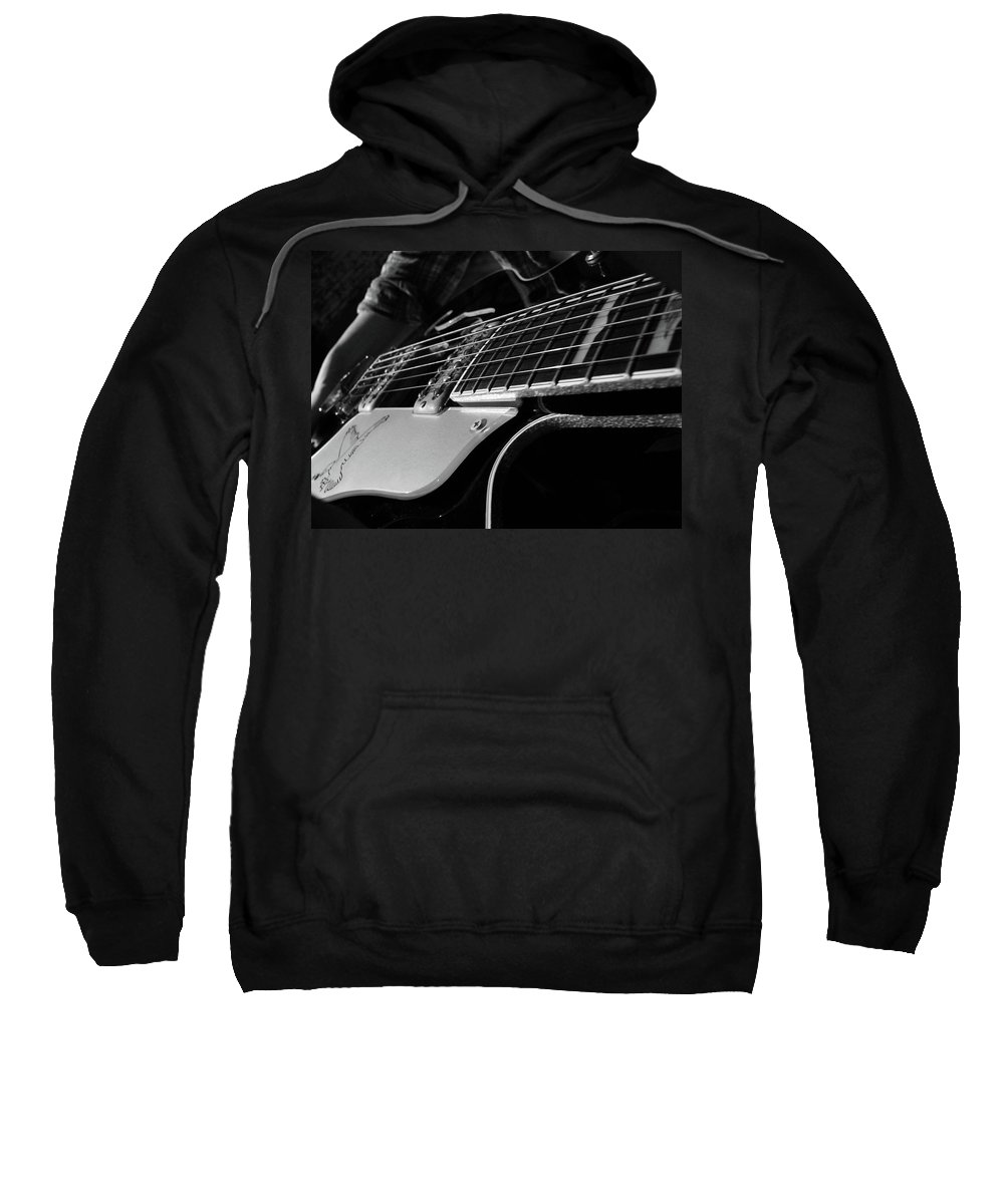 Black Sweatshirt featuring the photograph Strings by Angela Wright