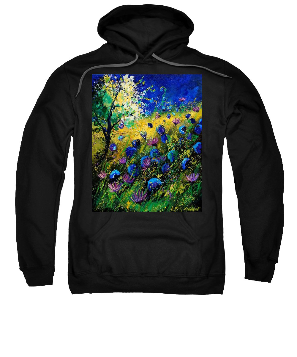 Poppies Sweatshirt featuring the painting Summer 450208 by Pol Ledent