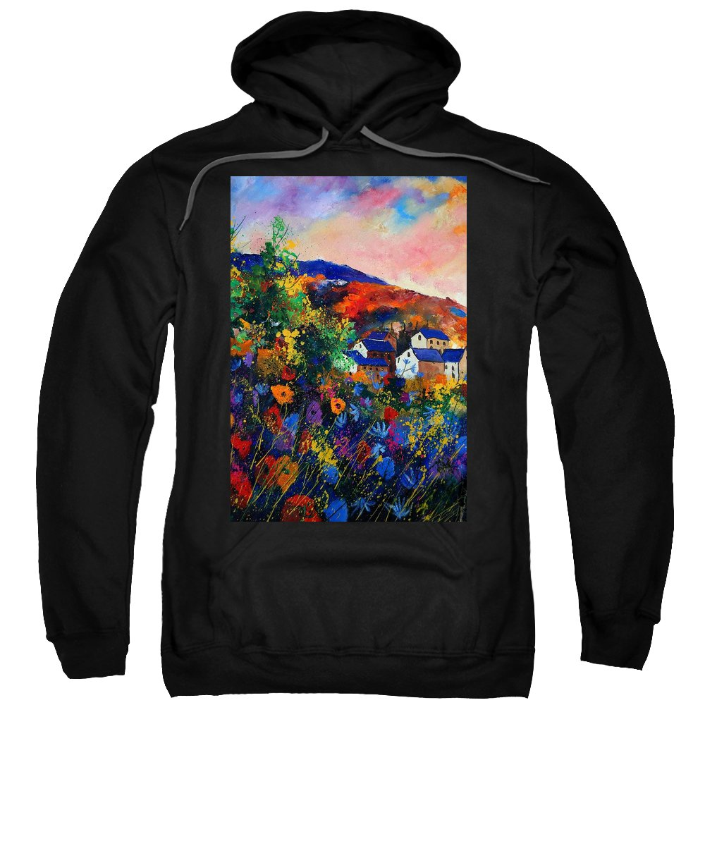 Landscape Sweatshirt featuring the painting Summer by Pol Ledent