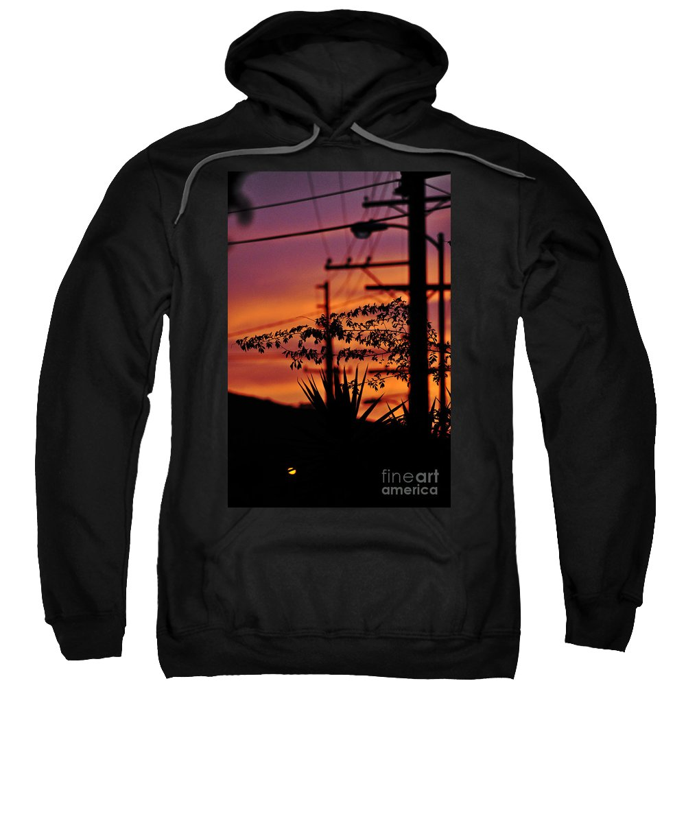 Clay Sweatshirt featuring the photograph Sunset Sihouettes by Clayton Bruster