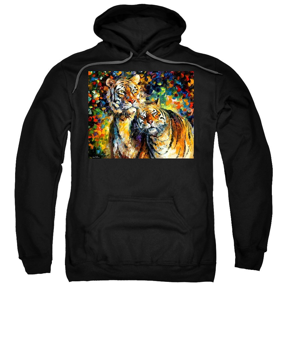 Afremov Sweatshirt featuring the painting Sweetness by Leonid Afremov