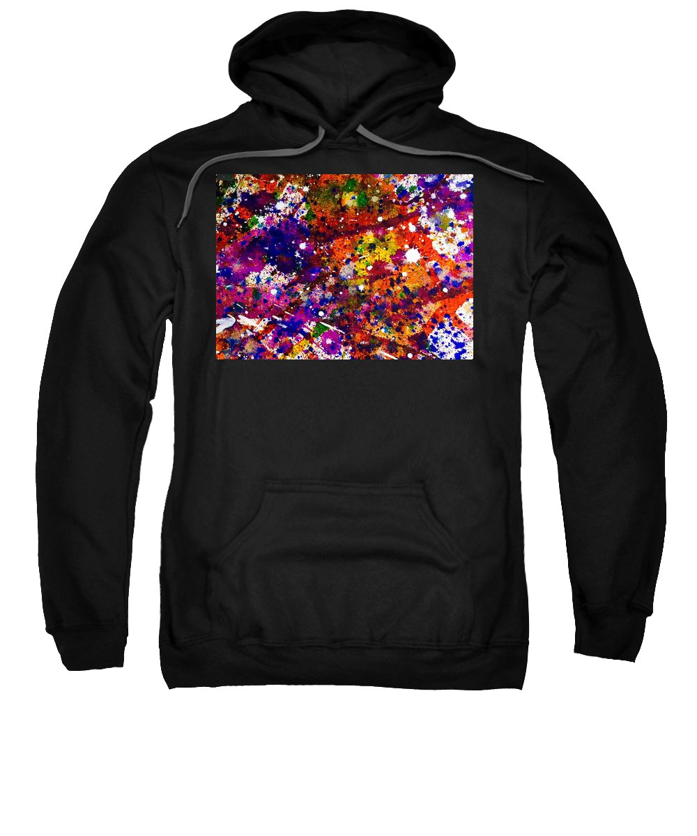 Abstract Expressionism Sweatshirt featuring the painting Synchronicity by Mike King