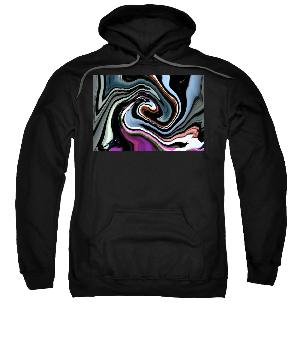 Abstract Sweatshirt featuring the digital art The Center Of The Universe by Lenore Senior