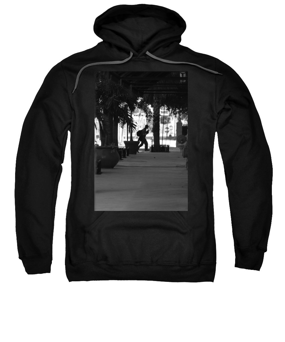 Street Scene Sweatshirt featuring the photograph The Post Man by Rob Hans