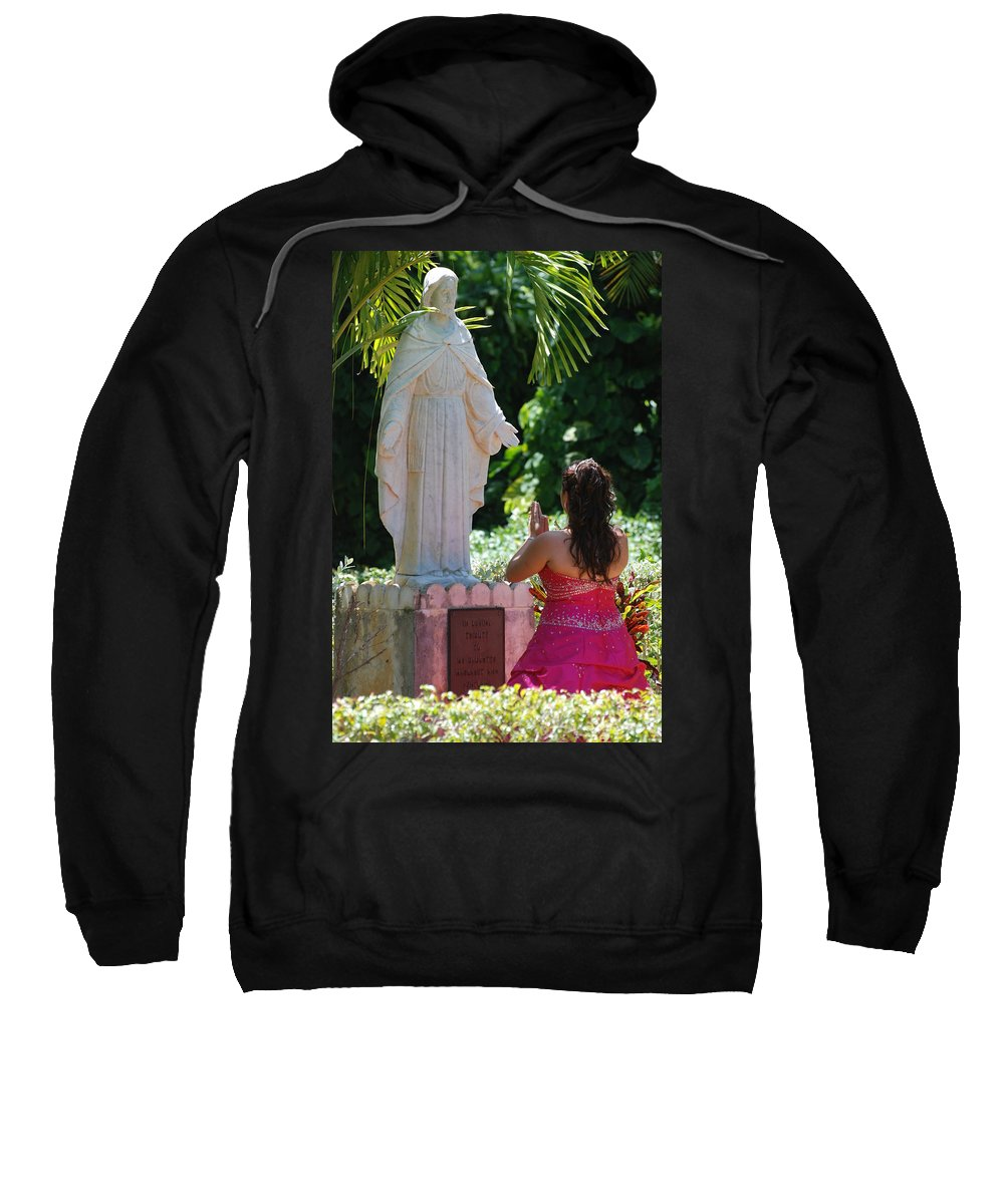 Portrait Sweatshirt featuring the photograph The Praying Princess by Rob Hans