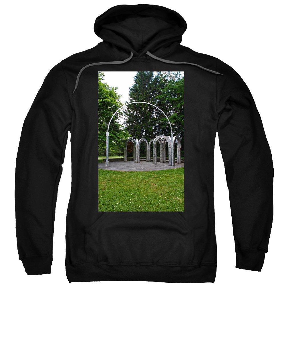 Toledo Sweatshirt featuring the photograph Toledo Botanical Garden Arches by Michiale Schneider