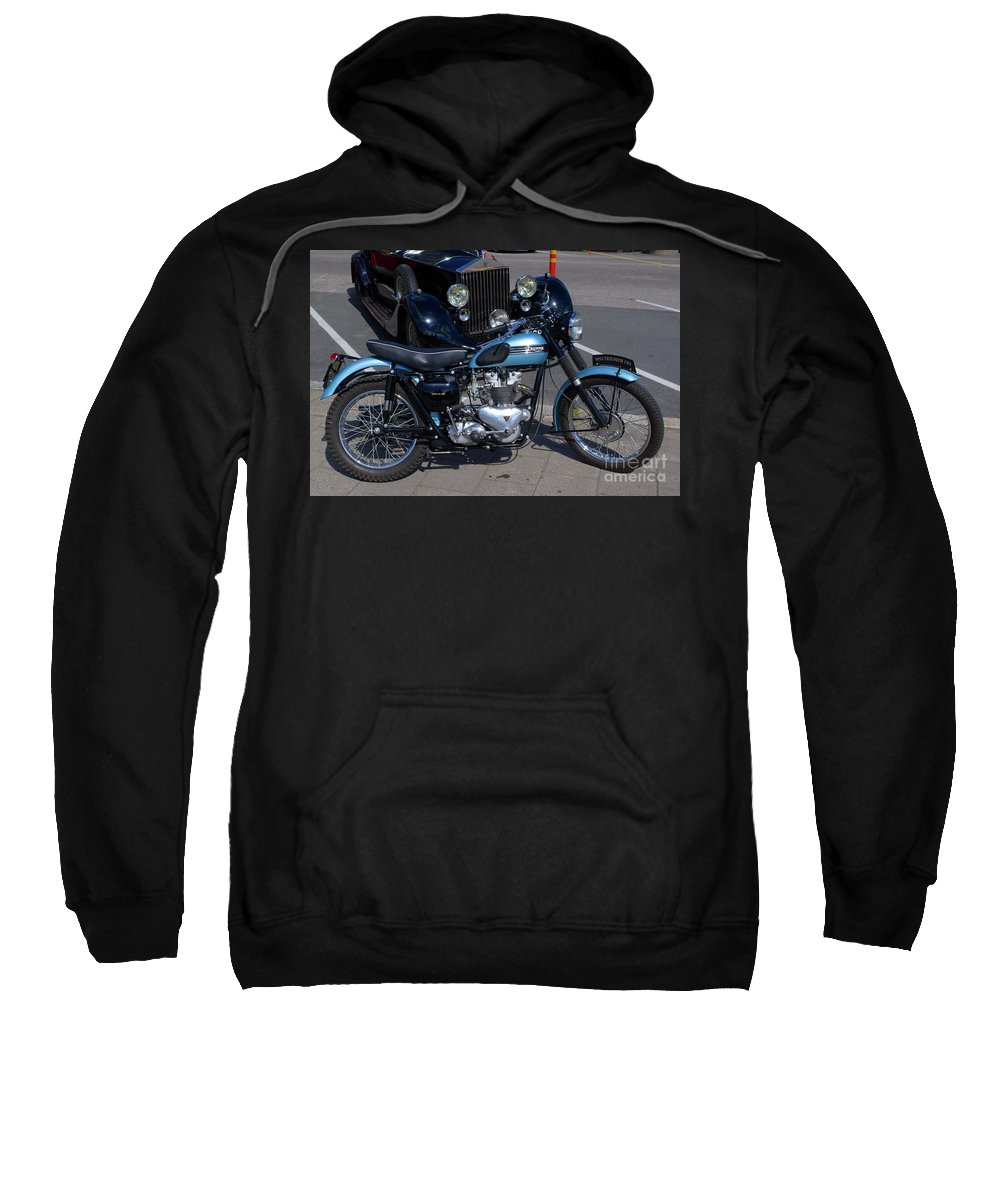 Motorcycle Sweatshirt featuring the photograph Triumph by Esko Lindell